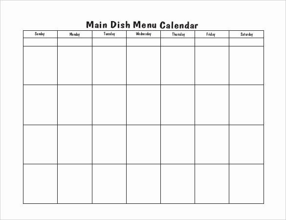 Blank School Lunch Menu Template Inspirational Blank School Lunch Menu Template Blank Menu Calendar