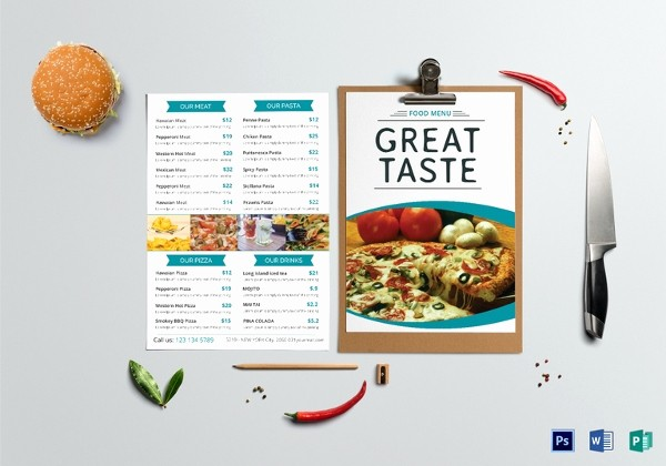 Blank School Lunch Menu Template Inspirational School Menu Templates – 14 Free Printable Pdf Documents