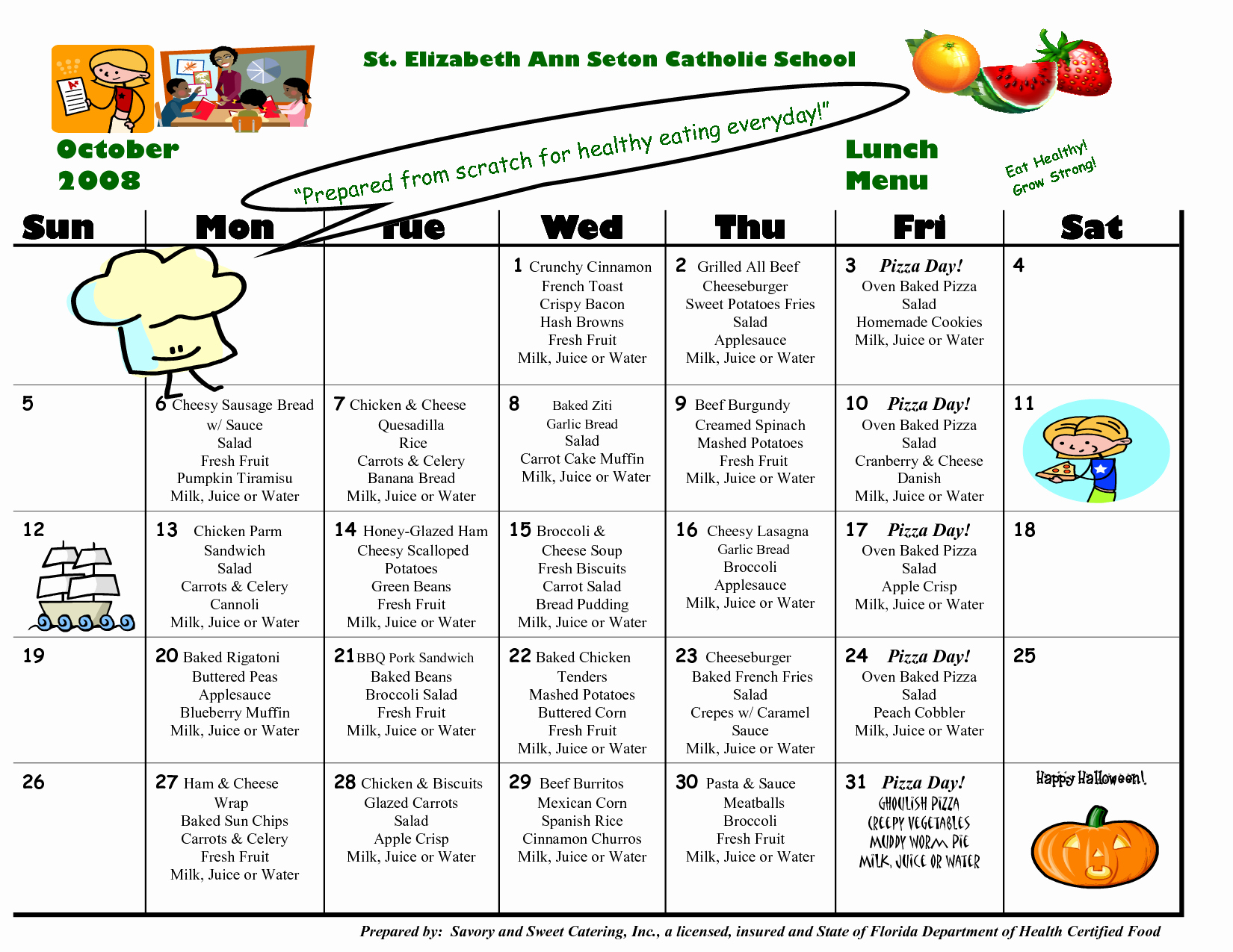 Blank School Lunch Menu Template Lovely 8 Best Of School Lunch Calendar Templates School