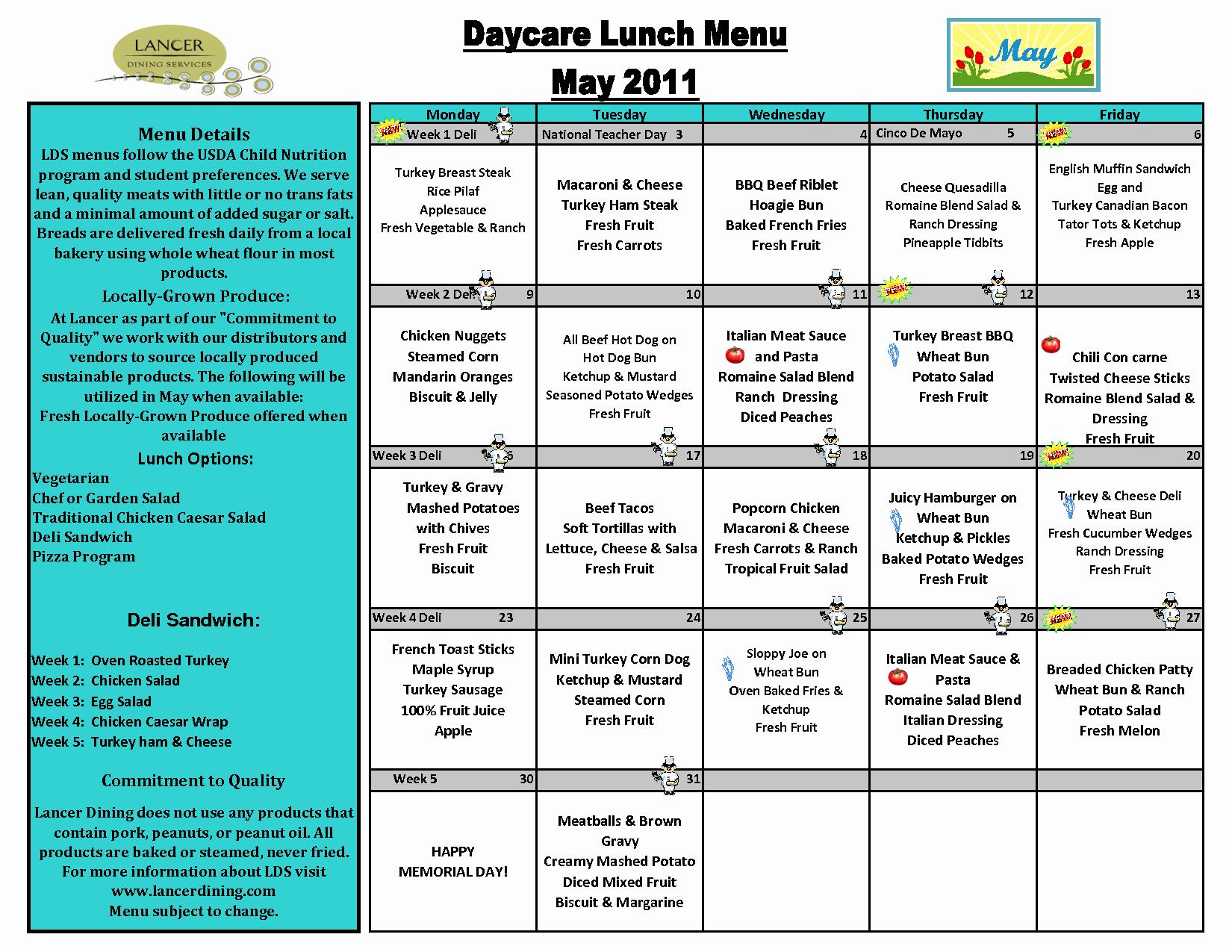Blank School Lunch Menu Template Luxury 7 Best Of School Menu Template Printable School