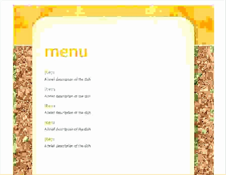 Blank School Lunch Menu Template Unique Free Line School Menu Templates Cycle Template
