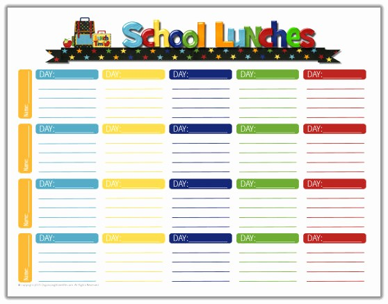 Blank School Lunch Menu Template Unique School Lunch Ideas & A Free School Lunches Printable