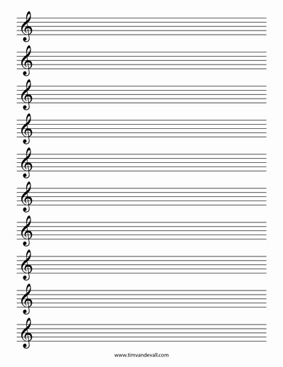 Blank Sheet Music Bass Clef Best Of Blank Treble Clef Staff Paper