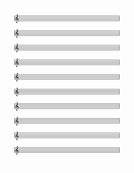 Blank Sheet Music Bass Clef Elegant Blank and General Fice