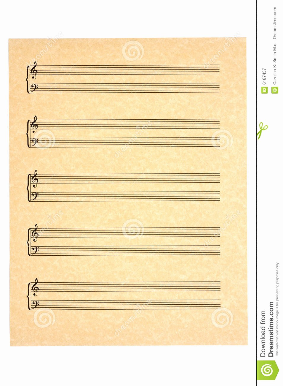 Blank Sheet Music Bass Clef Inspirational Blank Music Sheet Treble and Bass Clefs Stock Image
