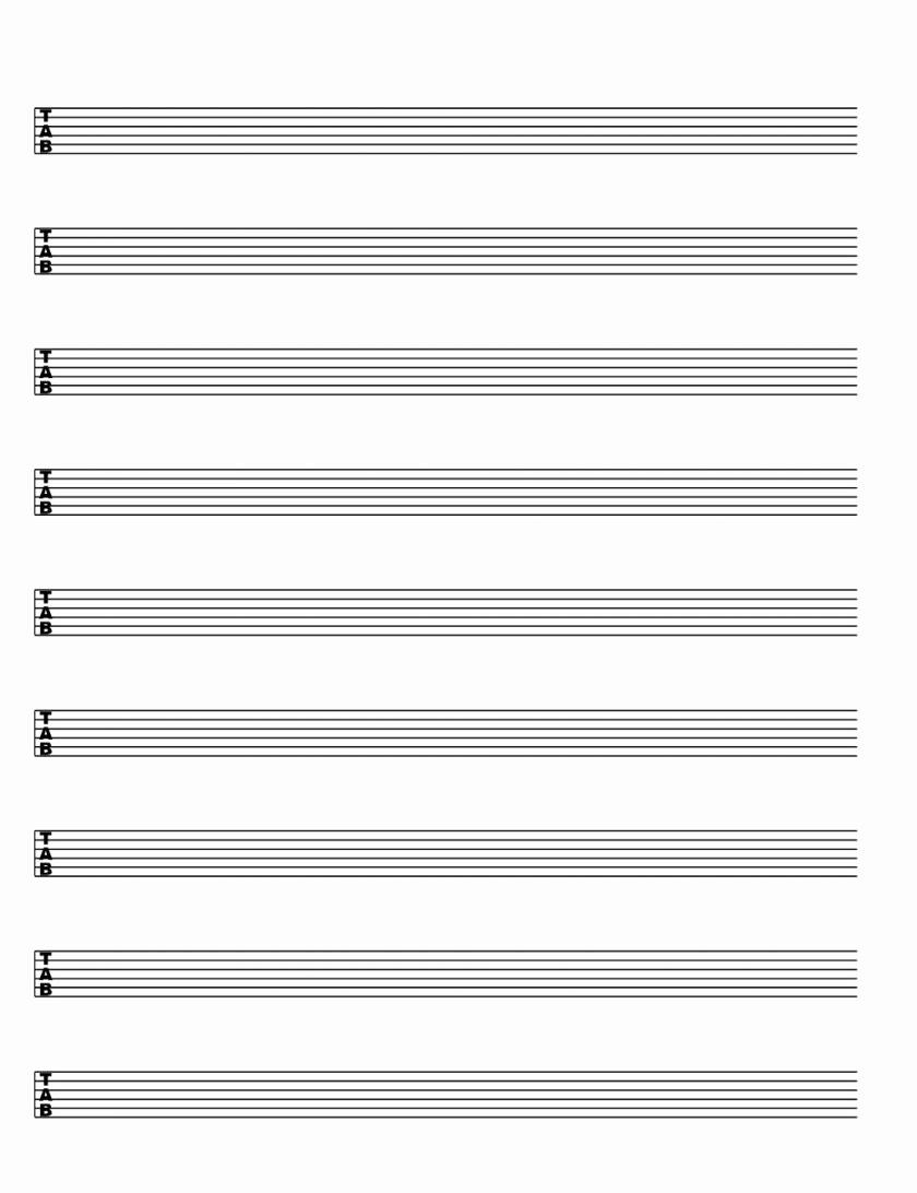 Blank Sheet Music Bass Clef Inspirational Sheet Musicemplate Blank Piano Printable Free Word