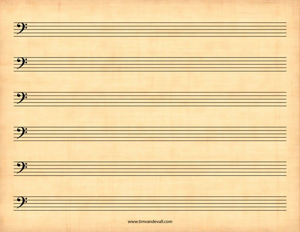 Blank Sheet Music Bass Clef Lovely Blank Bass Clef Staff Paper