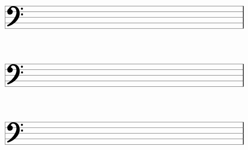 Blank Sheet Music Bass Clef Lovely Large Printable Pdf Blank Bass Clef Staff Paper