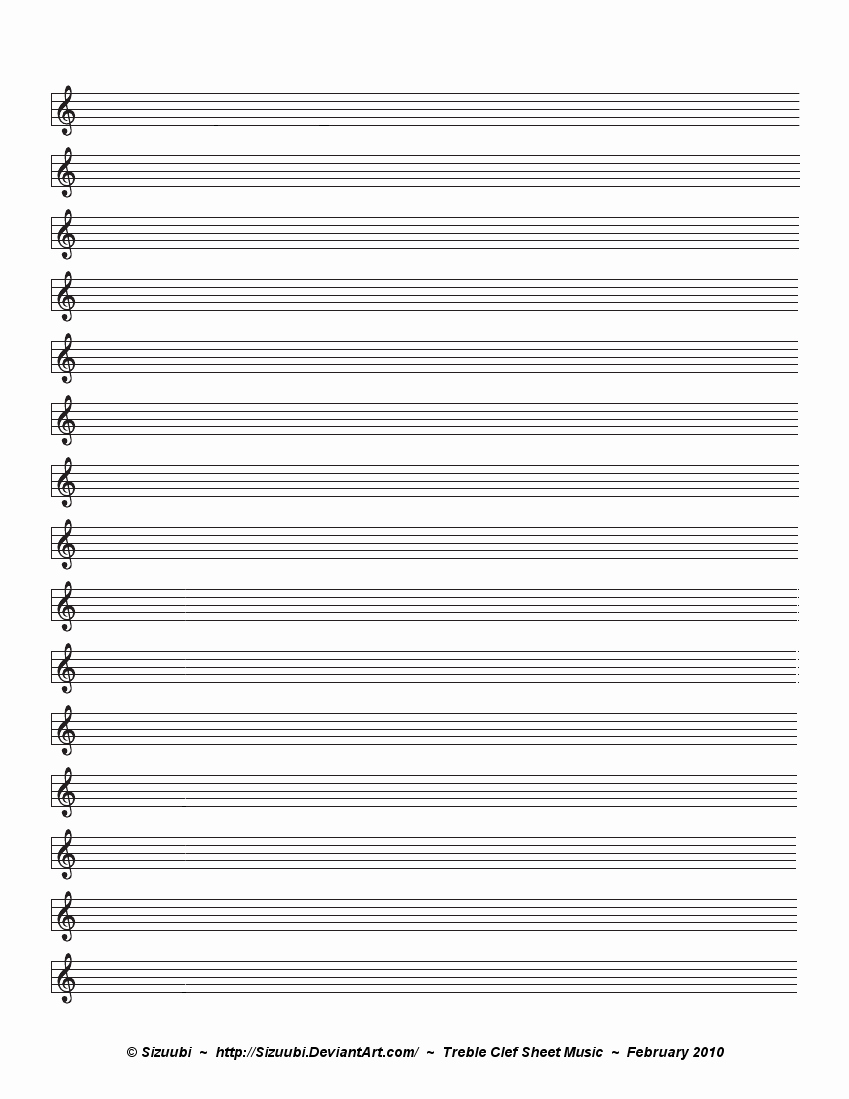 Blank Sheet Music Bass Clef Luxury 4 Best Of Treble Clef Sheets Printable Blank
