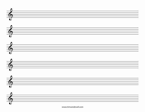 Blank Sheet Music Bass Clef Luxury Blank Sheet Music Treble Clef Staff Paper Template Piano
