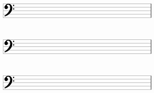 Blank Sheet Music Bass Clef Luxury the Gallery for Blank Bass Clef Music Staff