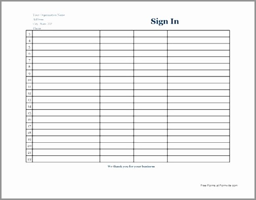 Blank Sign In Sheet Template Beautiful Cyber Security Policy Template Gallery Templates Design