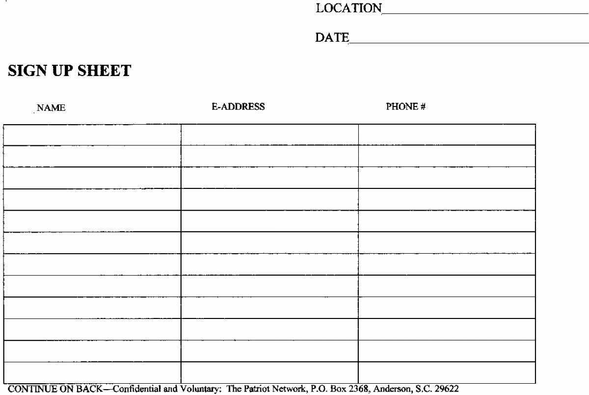Blank Sign In Sheet Template Best Of Blank Sign In Sheet Mughals