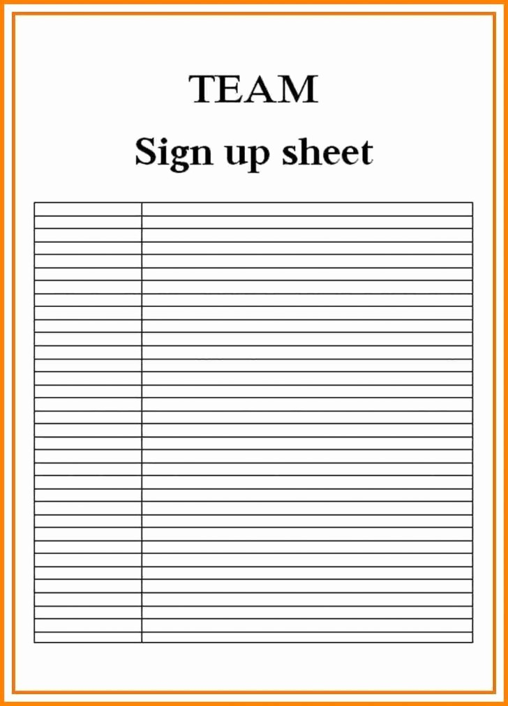 Blank Sign In Sheet Template Fresh Sign Up Sheets Resume Trakore Document Templates