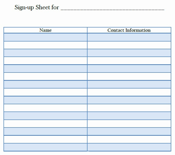 Blank Sign In Sheet Template Inspirational 26 Of Printable Template for Blank Sign