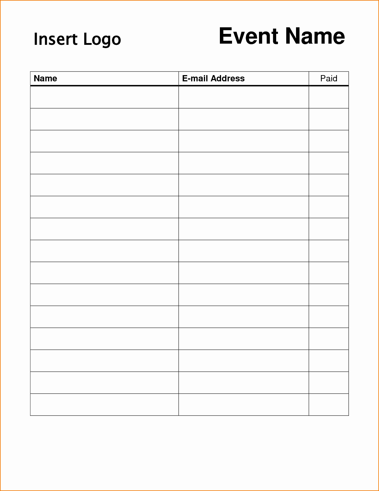 Blank Sign In Sheet Template New 5 Blank Sign In Sheet