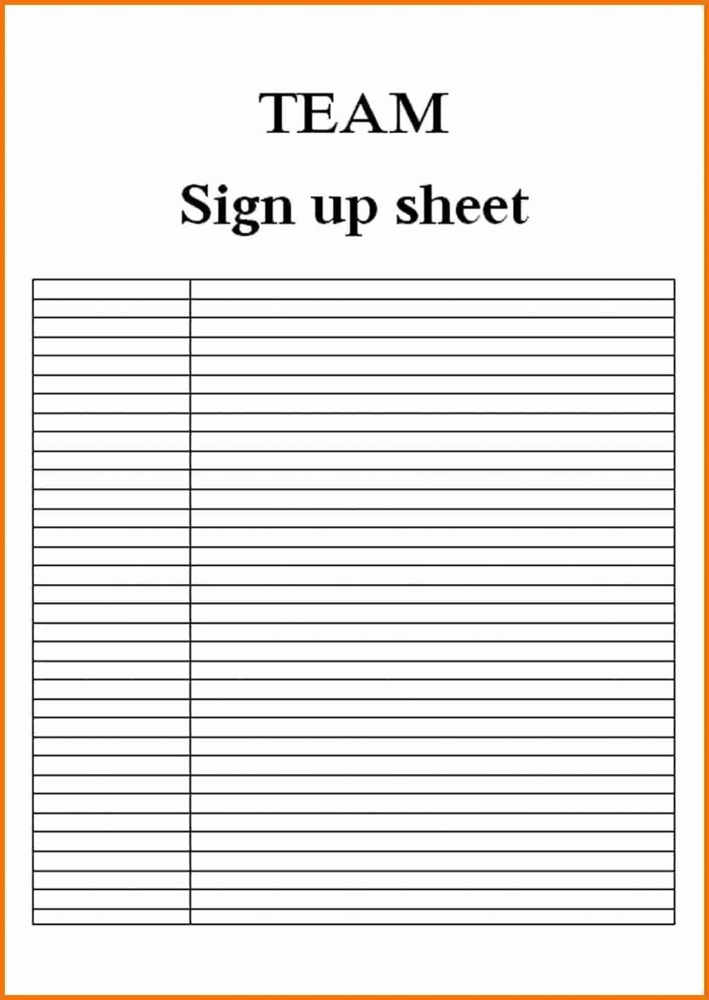 Blank Sign Up Sheet Template Elegant 9 Blank Sign Up Sheets attendance Sheet Download Central
