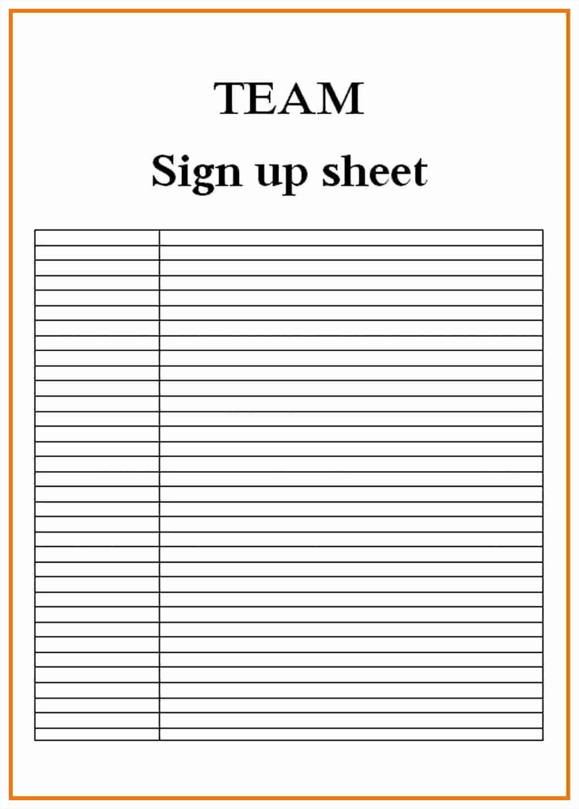 Blank Sign Up Sheet Template Inspirational Blank Sign Up Sheet Example Mughals