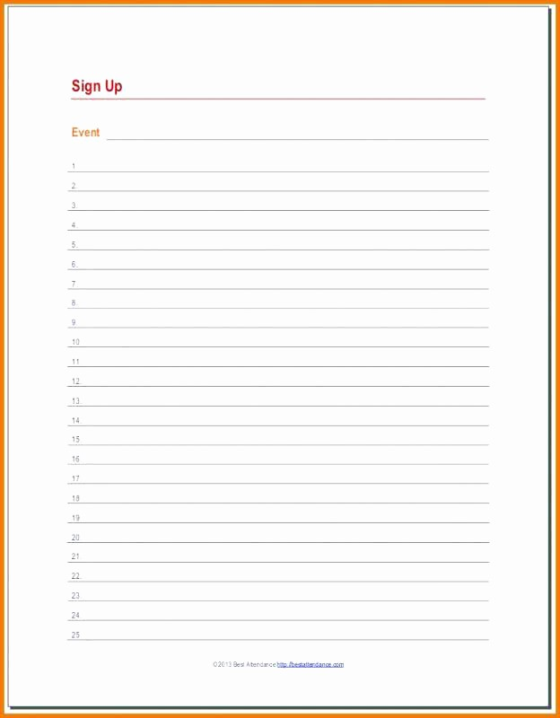 Blank Sign Up Sheet Template Luxury Free Printable Blank Sign Up Sheet Free Sign Up Sheet
