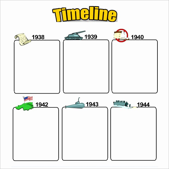 Blank Timeline Template 10 events Best Of 6 Timeline Templates for Students Doc Pdf