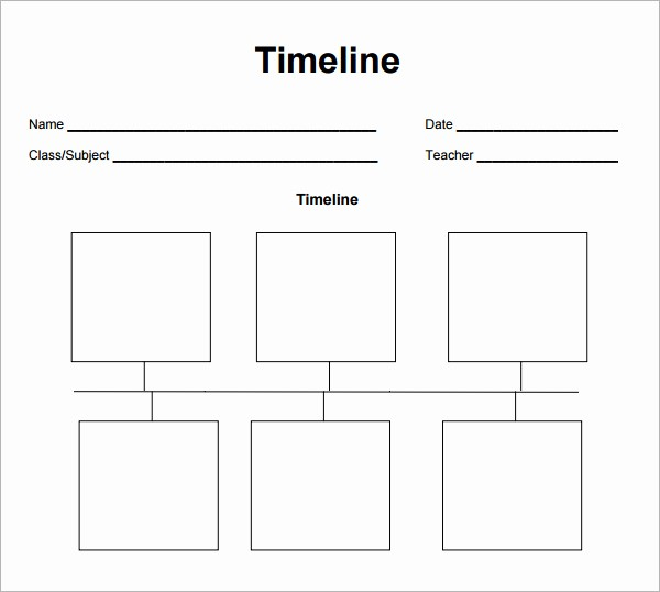 Blank Timeline Template 10 events Fresh Best S Of Fill In Timeline Template Printable Blank