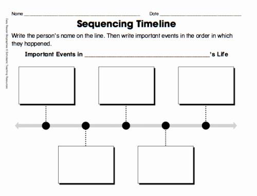 Blank Timeline Template 10 events Fresh Time Line Worksheet