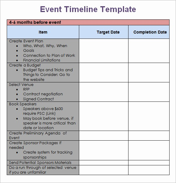 Blank Timeline Template 10 events Lovely 10 event Timeline Templates for Free Download