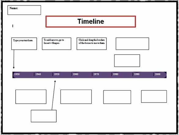 Blank Timeline Template 10 events Lovely 8 Personal Timeline Templates Doc Ppt Psd