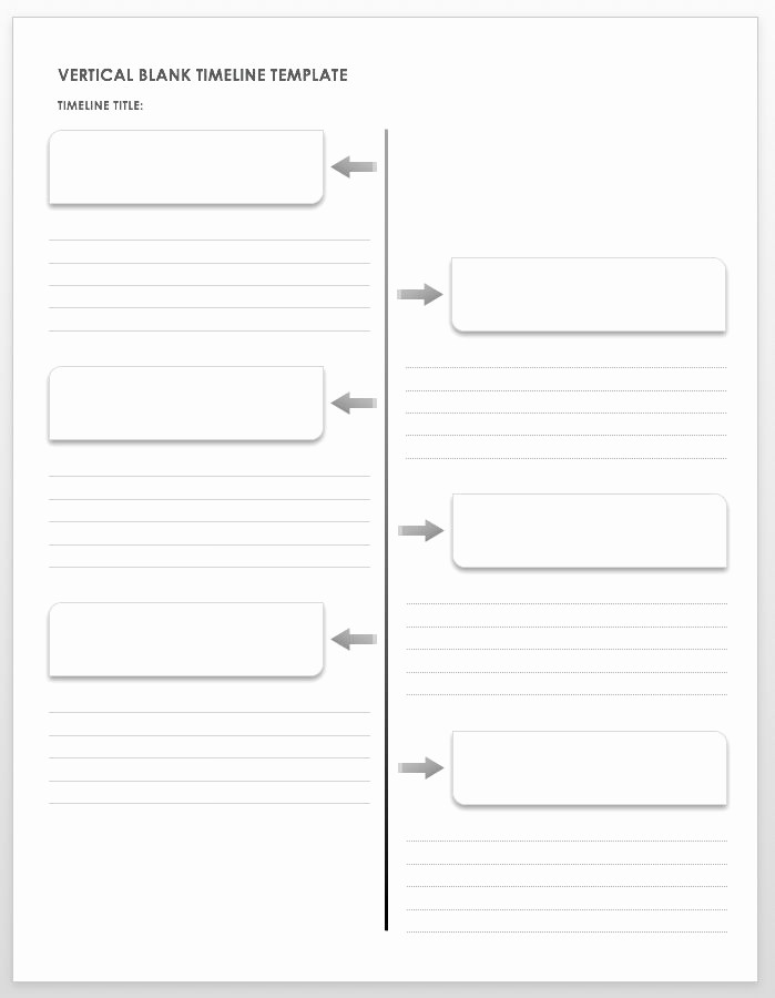 Blank Timeline Template 10 events Luxury Free Blank Timeline Templates