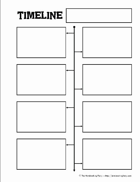 Blank Timeline Template 10 events New Biography format Layout Book Report Template Sample for