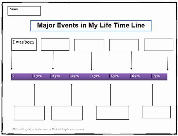 Blank Timeline Template 10 events Unique 8 Personal Timeline Templates Doc Ppt Psd
