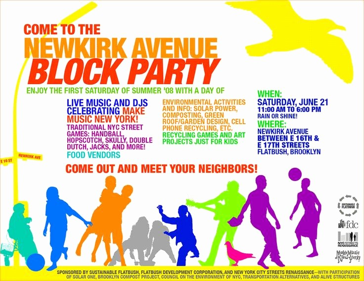 Block Party Flyer Templates Free Awesome 229 Best Referenceimages Images On Pinterest