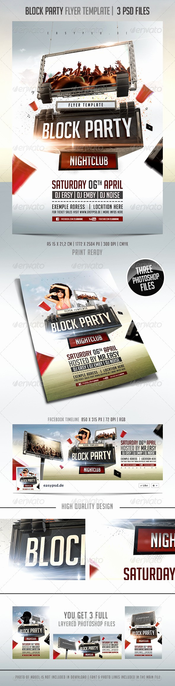 Block Party Flyer Templates Free Awesome Block Party Flyer Template