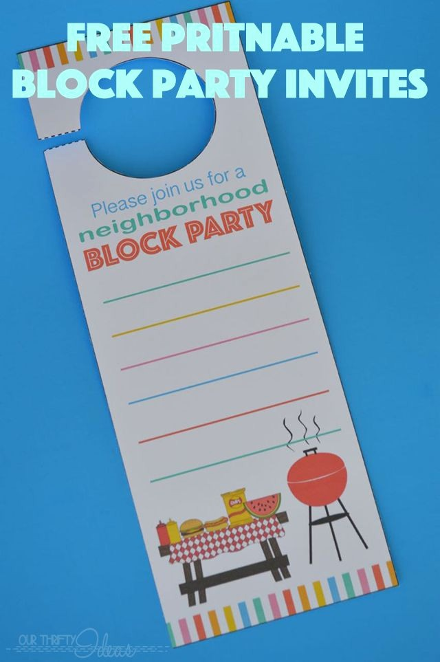 Block Party Flyer Templates Free Awesome Neighborhood Block Party Invitation Free Printable Our