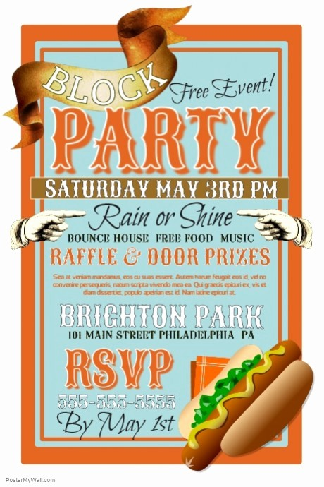 Block Party Flyer Templates Free Beautiful Block Party Template