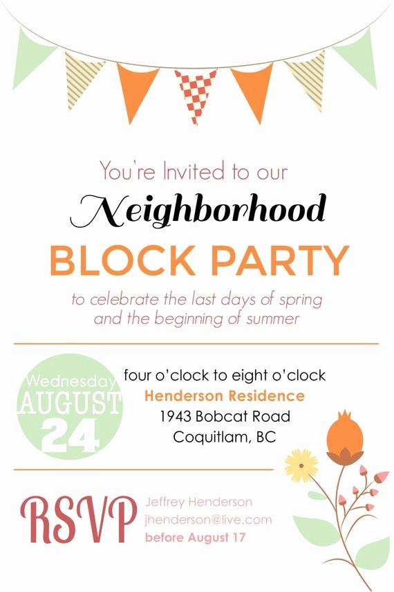 Block Party Flyer Templates Free Beautiful Items Similar to Summer Block Party Backyard Bbq