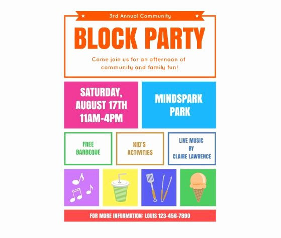 Block Party Flyer Templates Free Best Of Download This Block Party Flyer Template and Other Free