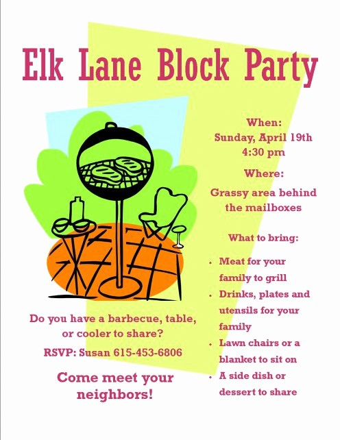 Block Party Flyer Templates Free Best Of Meet and Greet Food Ideas
