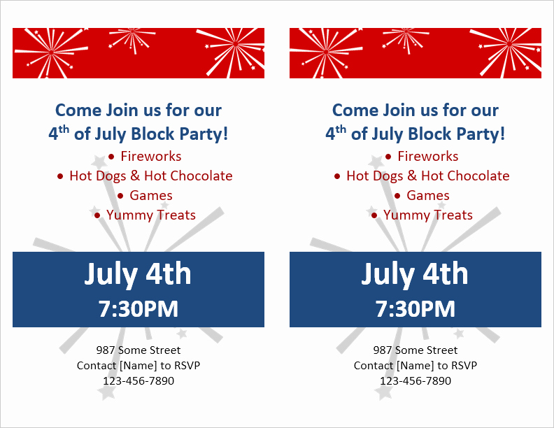 Block Party Flyer Templates Free Best Of Party Flyer Template for Word