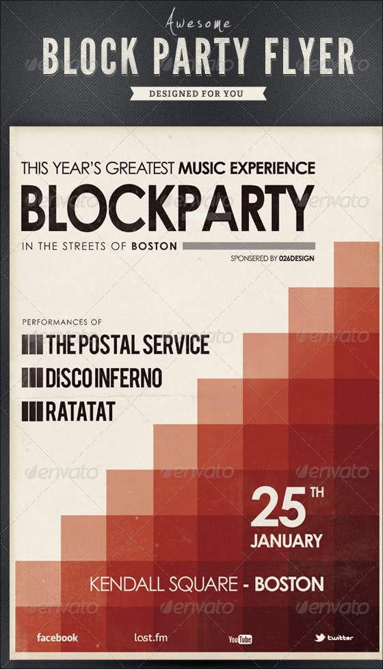 Block Party Flyer Templates Free Elegant 9 Amazing Block Party Flyers