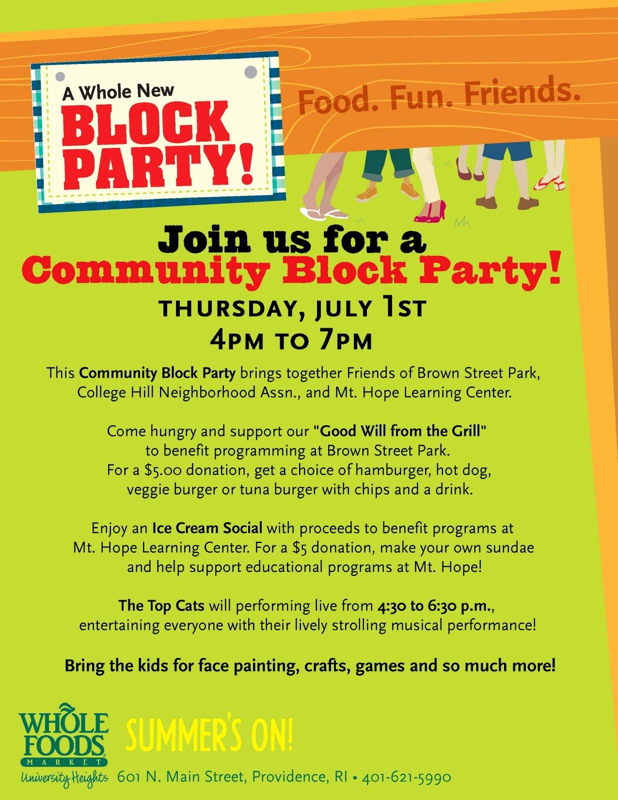 Block Party Flyer Templates Free Elegant Friends Of Brown Street Park June 2010