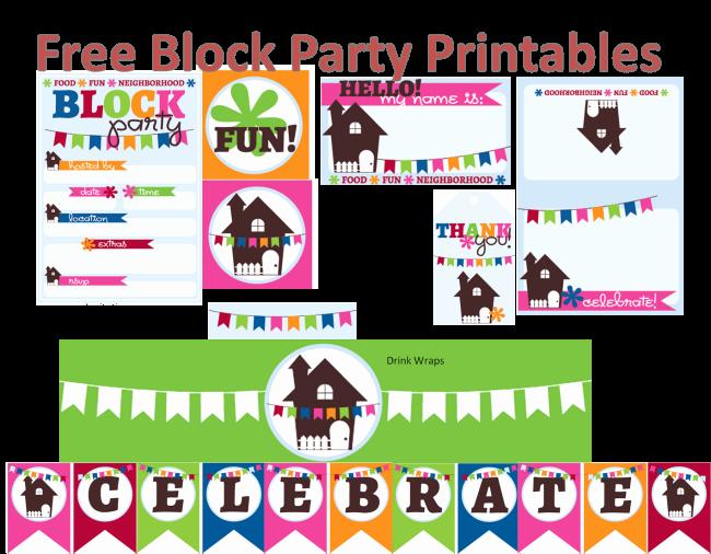 Block Party Flyer Templates Free Elegant Neighborhood Block Party Printables Free