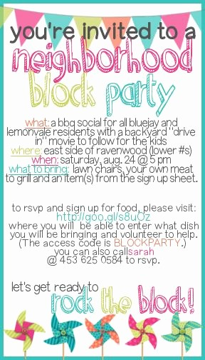 Block Party Flyer Templates Free Inspirational How to Throw A Block Party Printable Invitation Template
