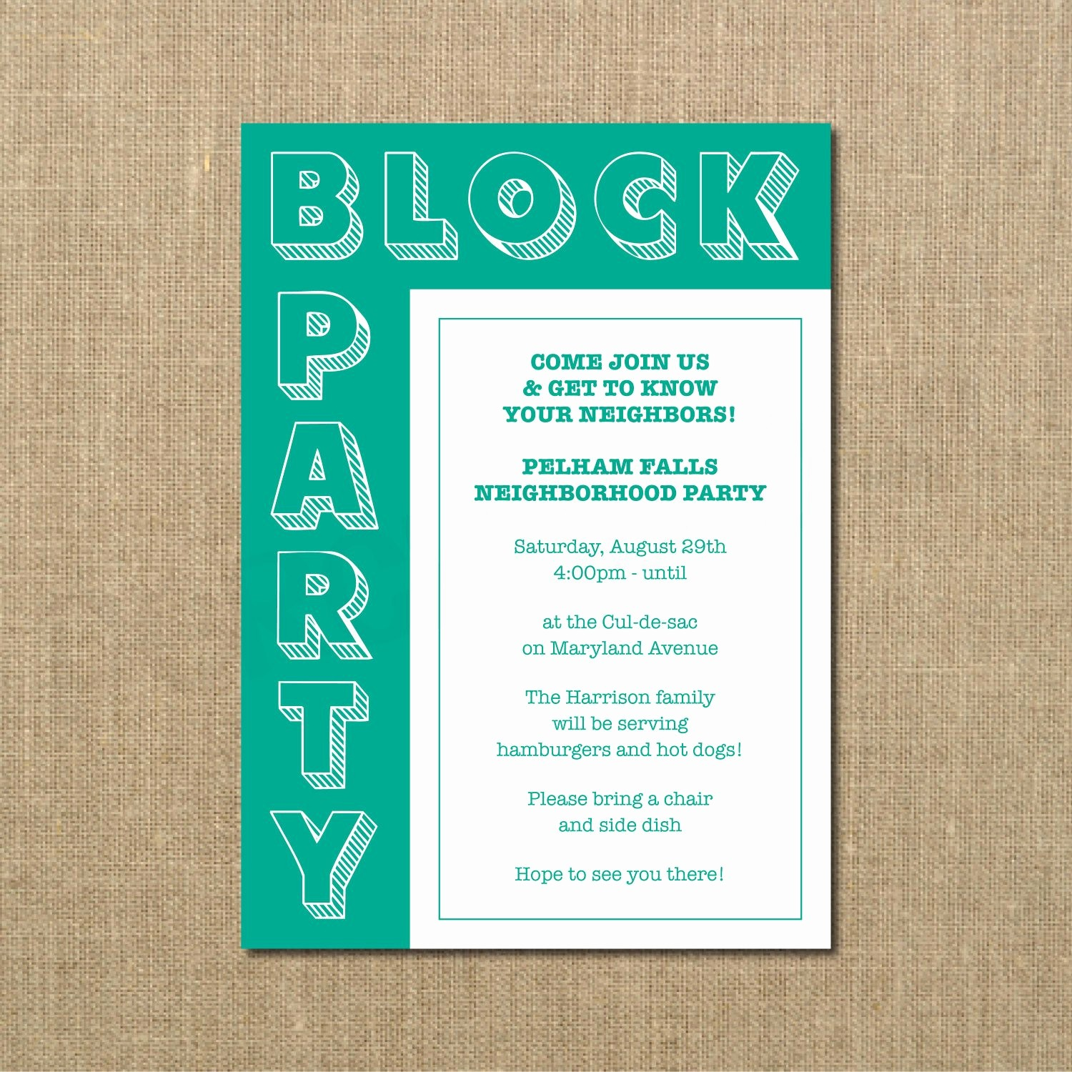 Block Party Flyer Templates Free Inspirational Neighborhood Block Party Cookout Invitation Grilling Out