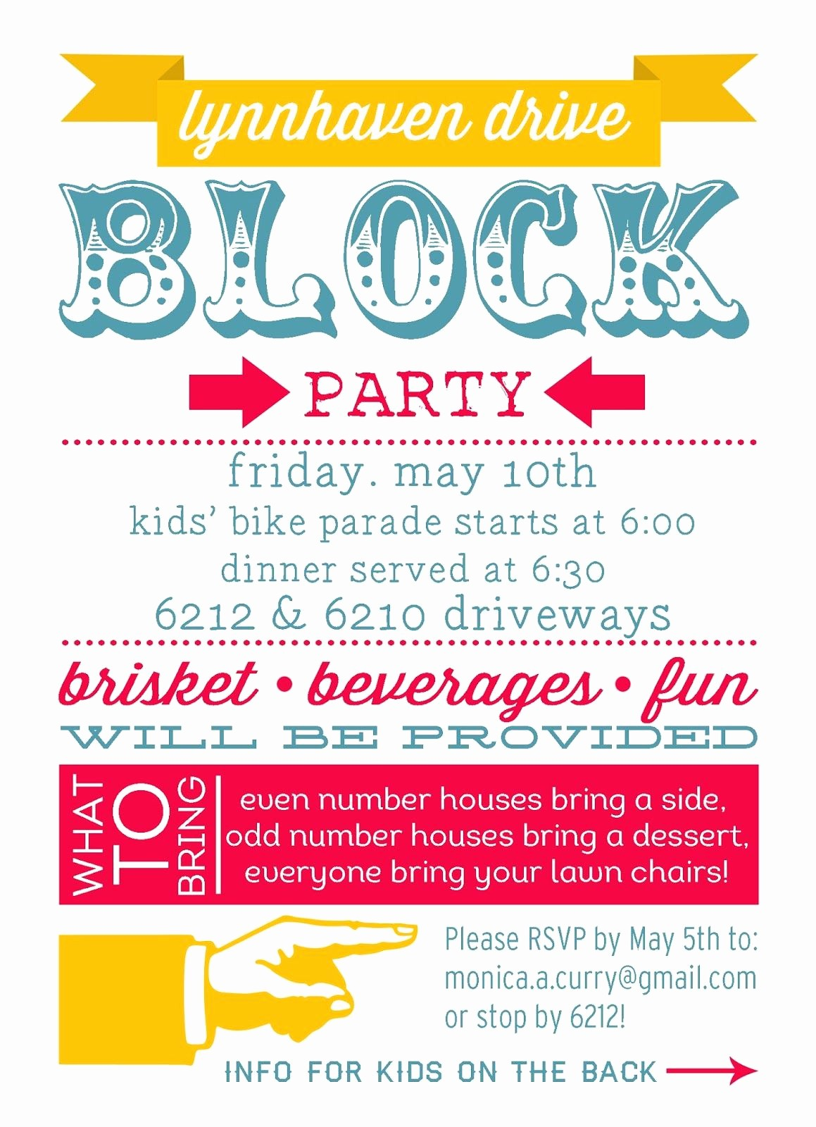 Block Party Flyer Templates Free Luxury Block Party Invitation Template