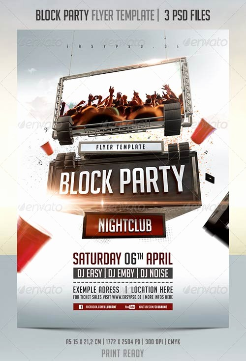 Block Party Flyer Templates Free Luxury Graphicriver Block Party Flyer Template