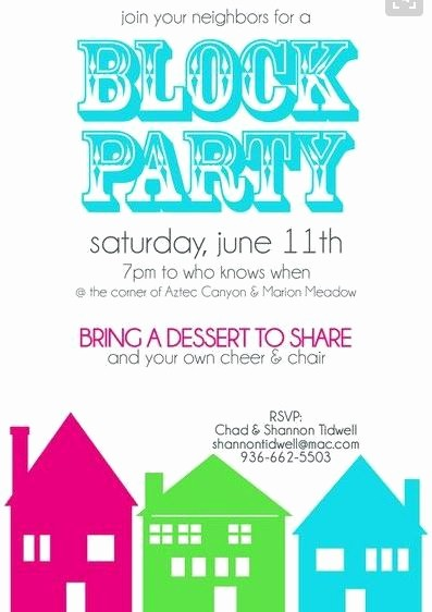 Block Party Flyer Templates Free Luxury Neighborhood Block Party Flyer Template Yourweek