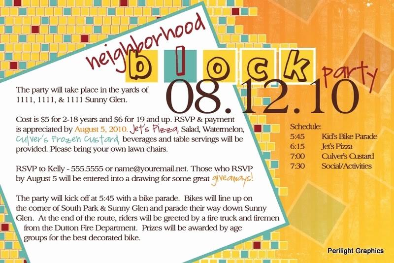 Block Party Flyer Templates Free Unique Invite124