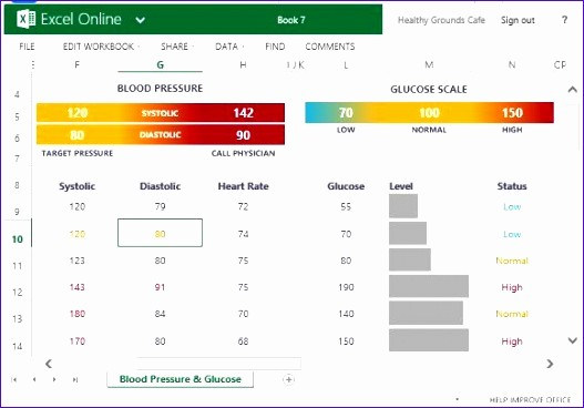 Blood Pressure and Glucose Tracker Lovely 5 Log Template Excel Exceltemplates Exceltemplates