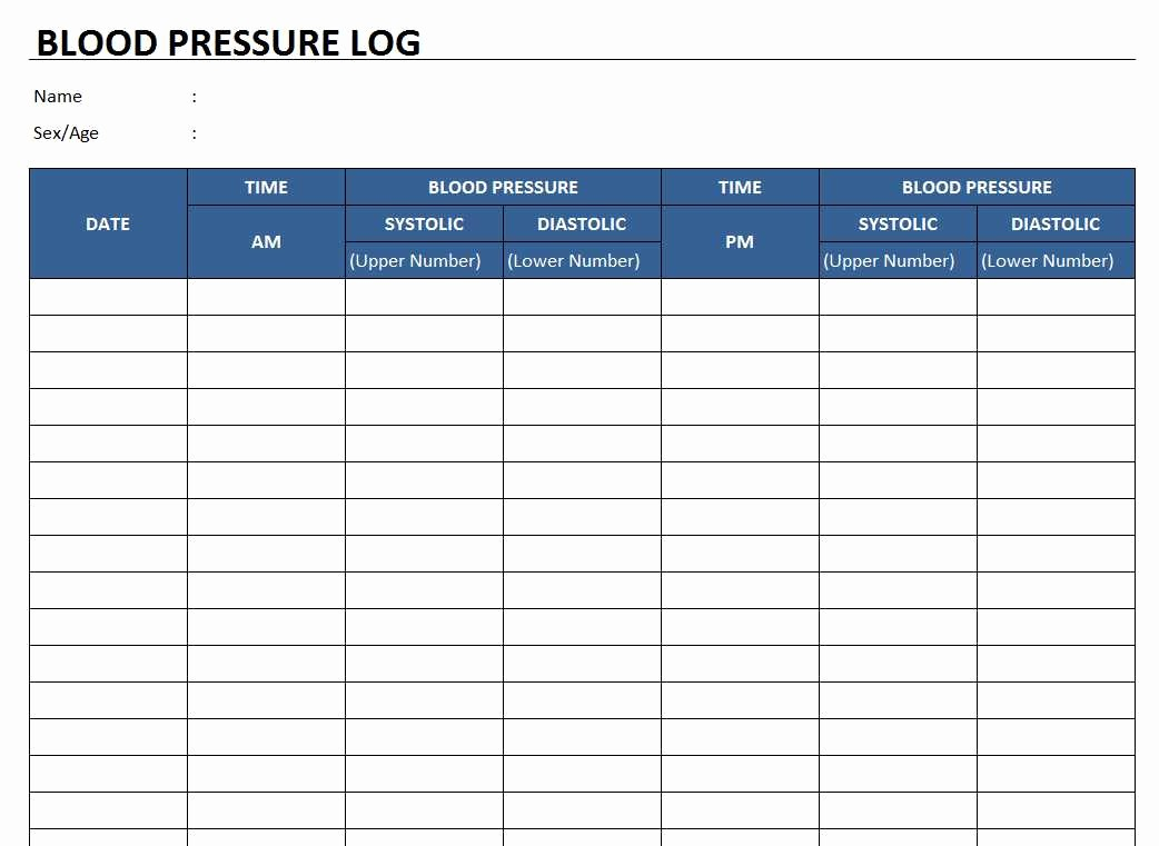 Blood Pressure Log Excel Template Best Of Blood Pressure Log Template Free Excel Templates and